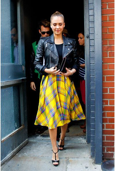 Yellow Plaid Skirt: Retro Staple is Back in Style! - FMag.c