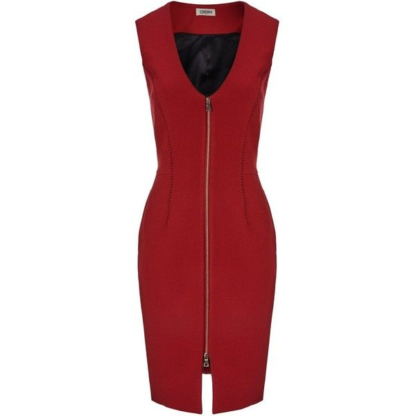 L'Agence Red Zip Front Mini Dress found on Polyvore | Red cocktail .