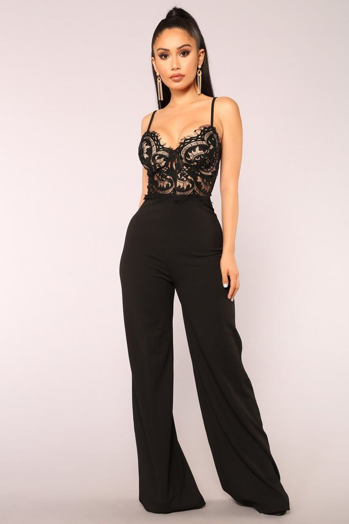 Black Lace Jumpsuit Outfits