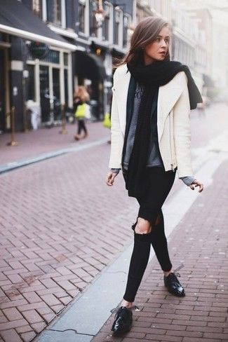 Black Leather Shoes Outfit Ideas