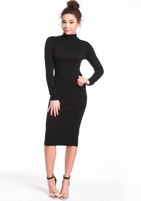 Black Turtleneck Dress Outfit Ideas
