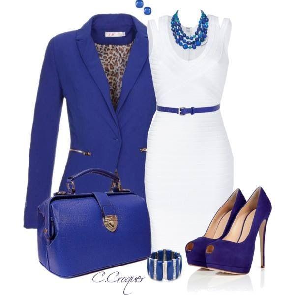 Blue And White Dress Outfit Ideas