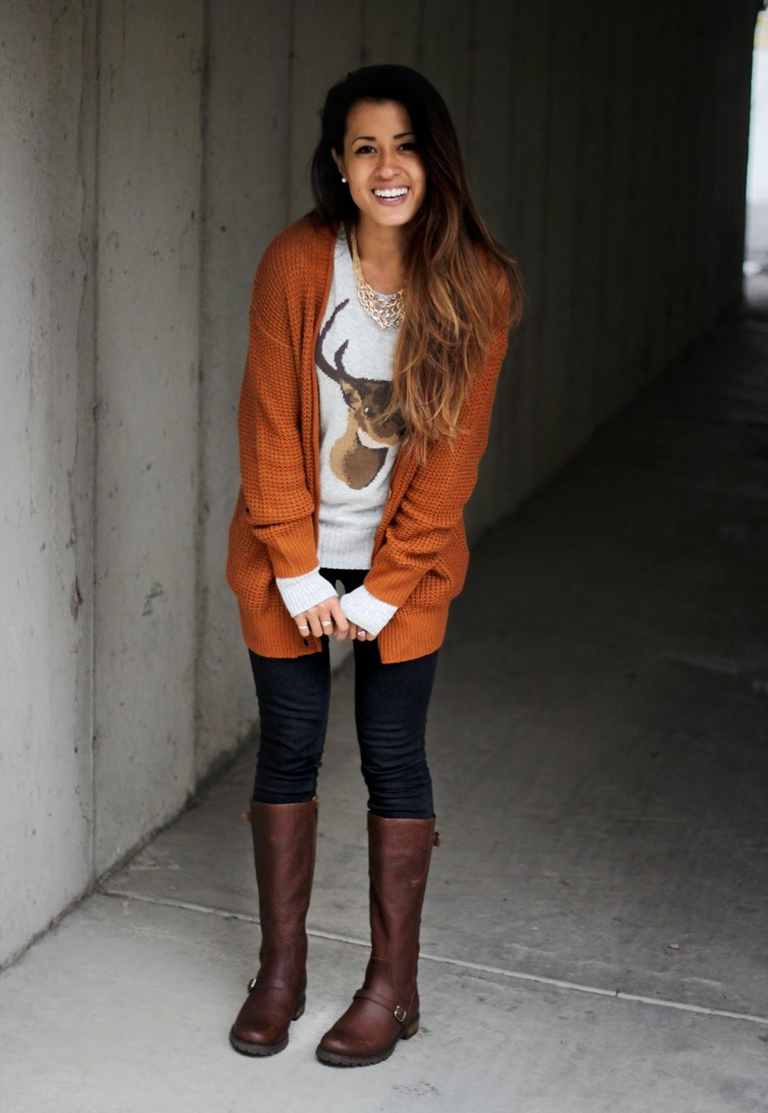 Burnt Orange Sweater Outfits