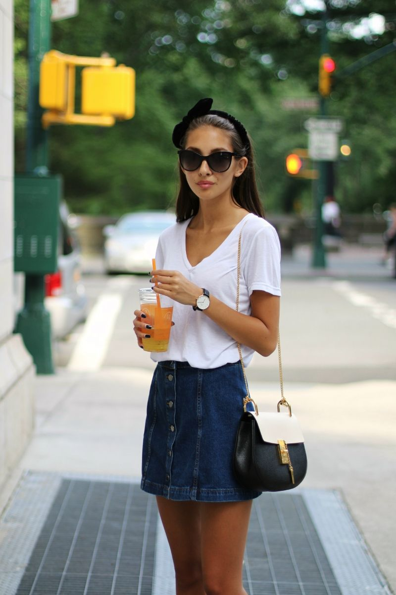 Button Front Skirt Outfit Ideas