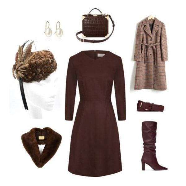 Chocolate Brown Dress Outfit Ideas