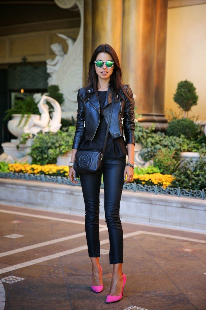 Coated Jeans Outfit Ideas