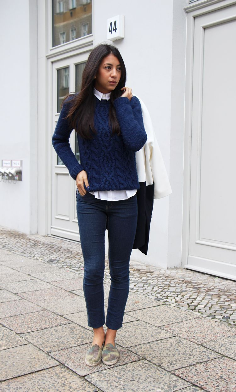 Collared Sweatshirt Outfit Ideas