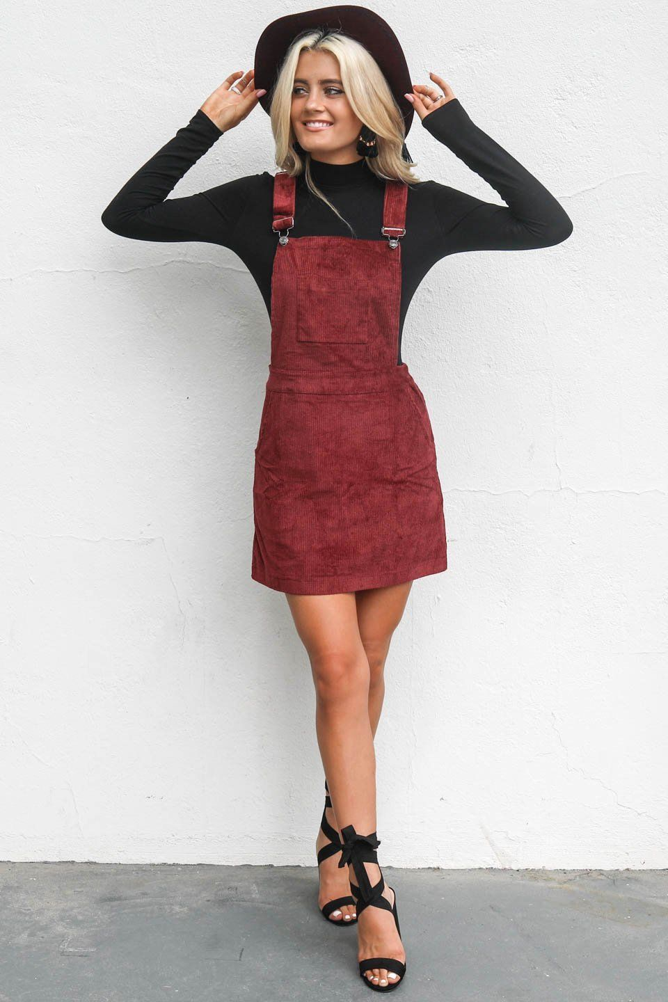 Corduroy Overall Dress Outfits