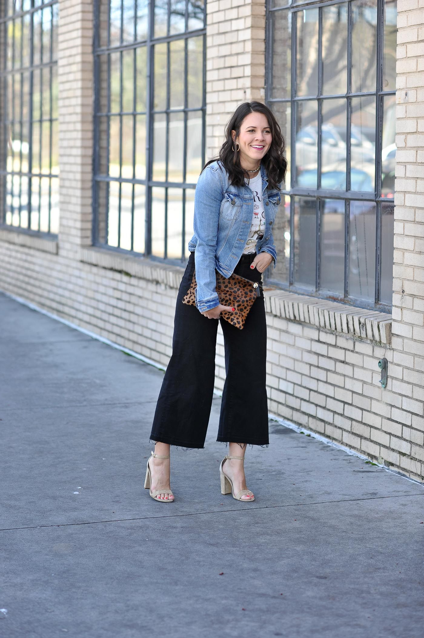 Cropped Wide Leg Pants Outfit Ideas