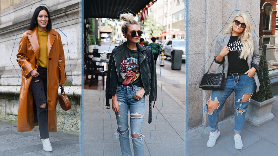 Destroyed Jeans Outfit Ideas