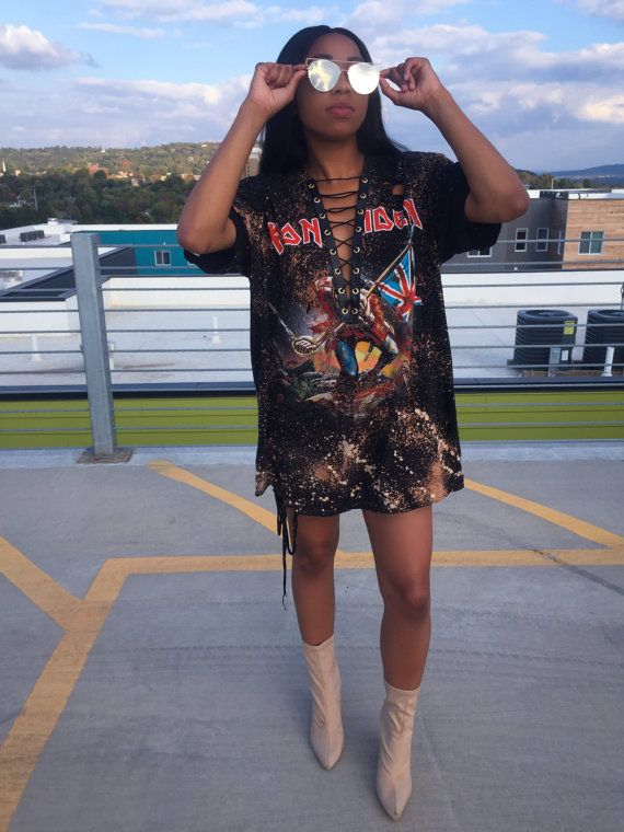 Distressed T Shirt Dress Outfit Ideas