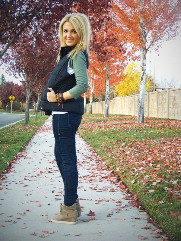 Fleece Lined Jeans Outfit Ideas