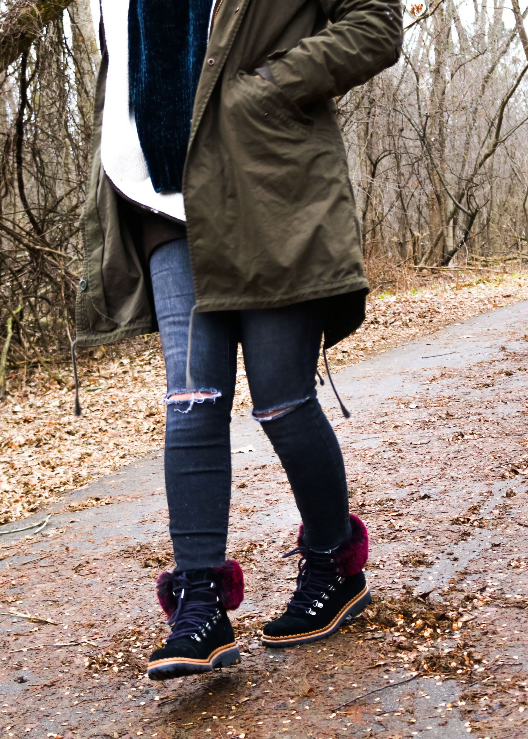 Fur Lined Boots Outfits