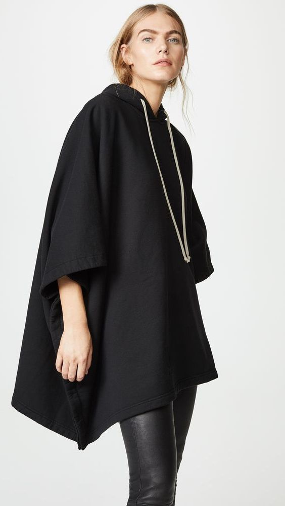 Hooded Poncho Outfit Ideas