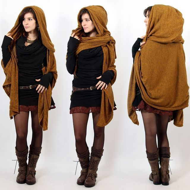 Hooded Scarf Outfit Ideas