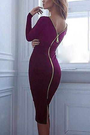 How To Style Back Zipper Dress
