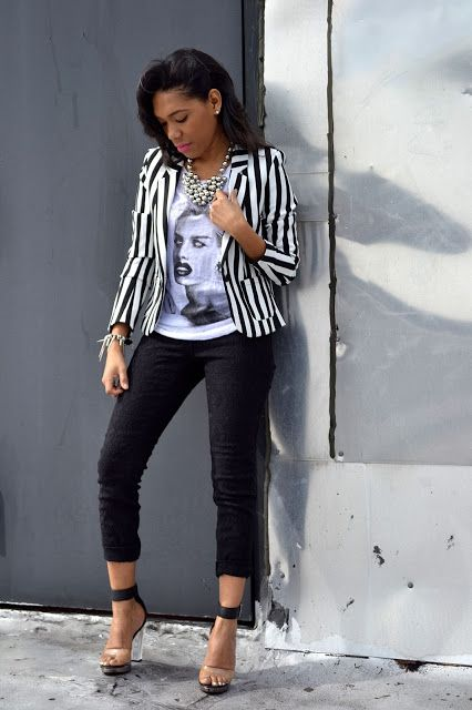 How To Style Black And White Blazer
