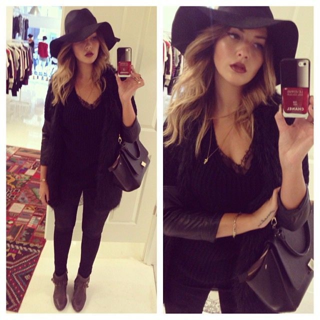 How To Style Black Floppy Hat