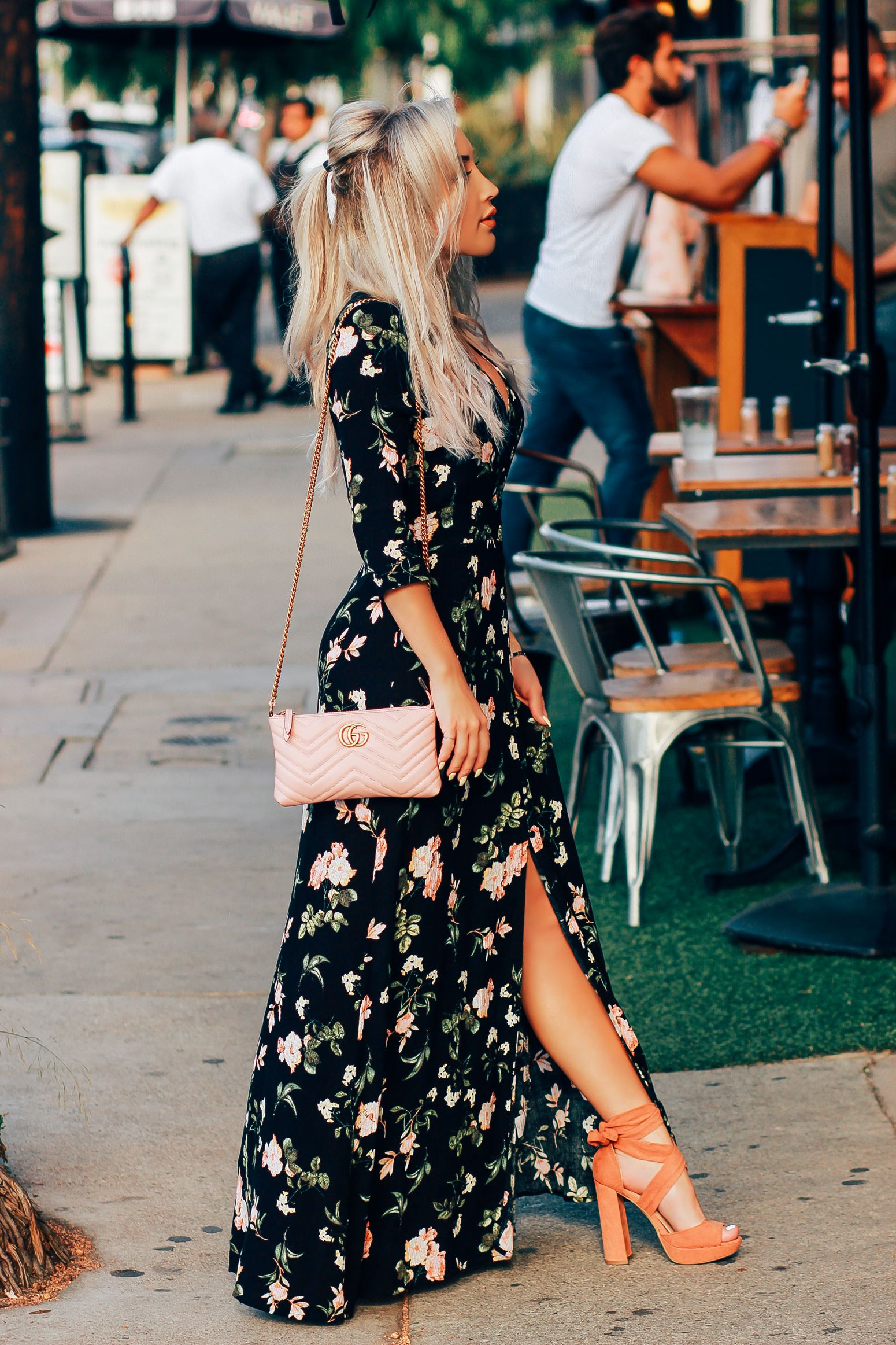 How To Style Black Floral Dress
