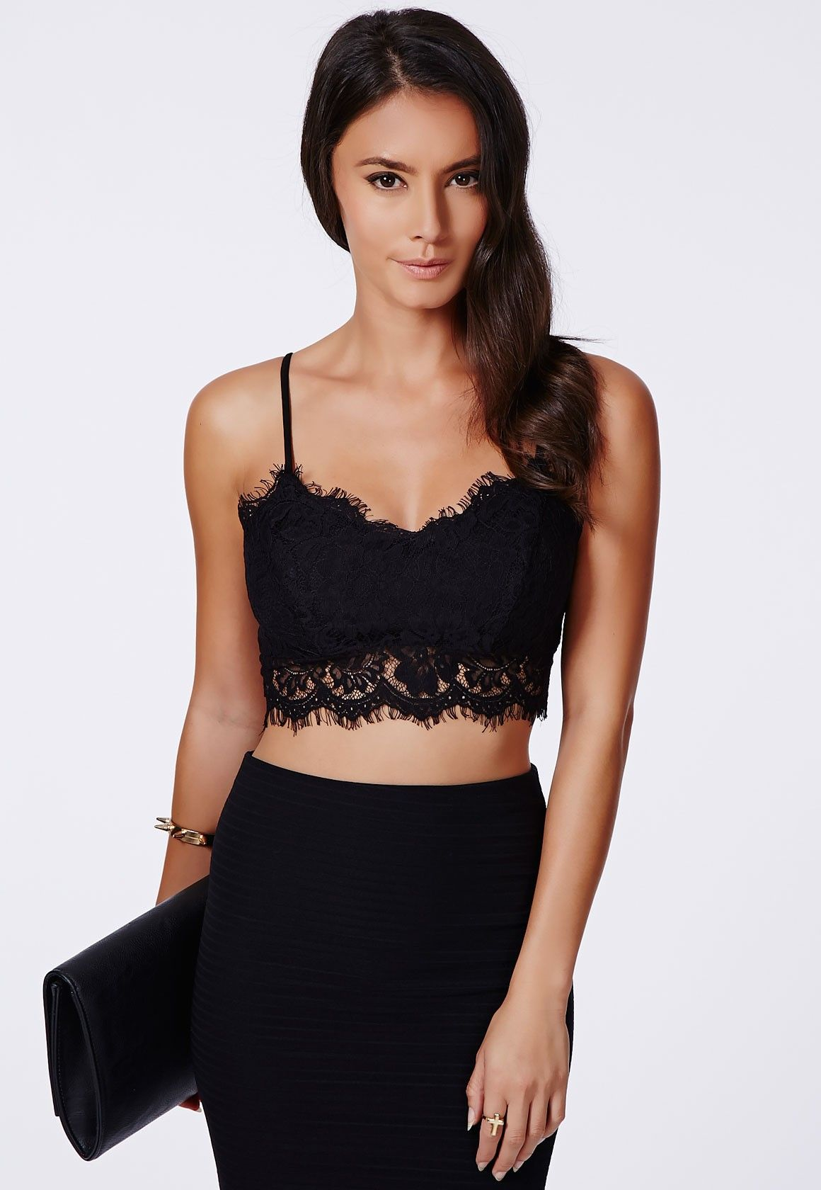 How To Style Black Lace Bralette