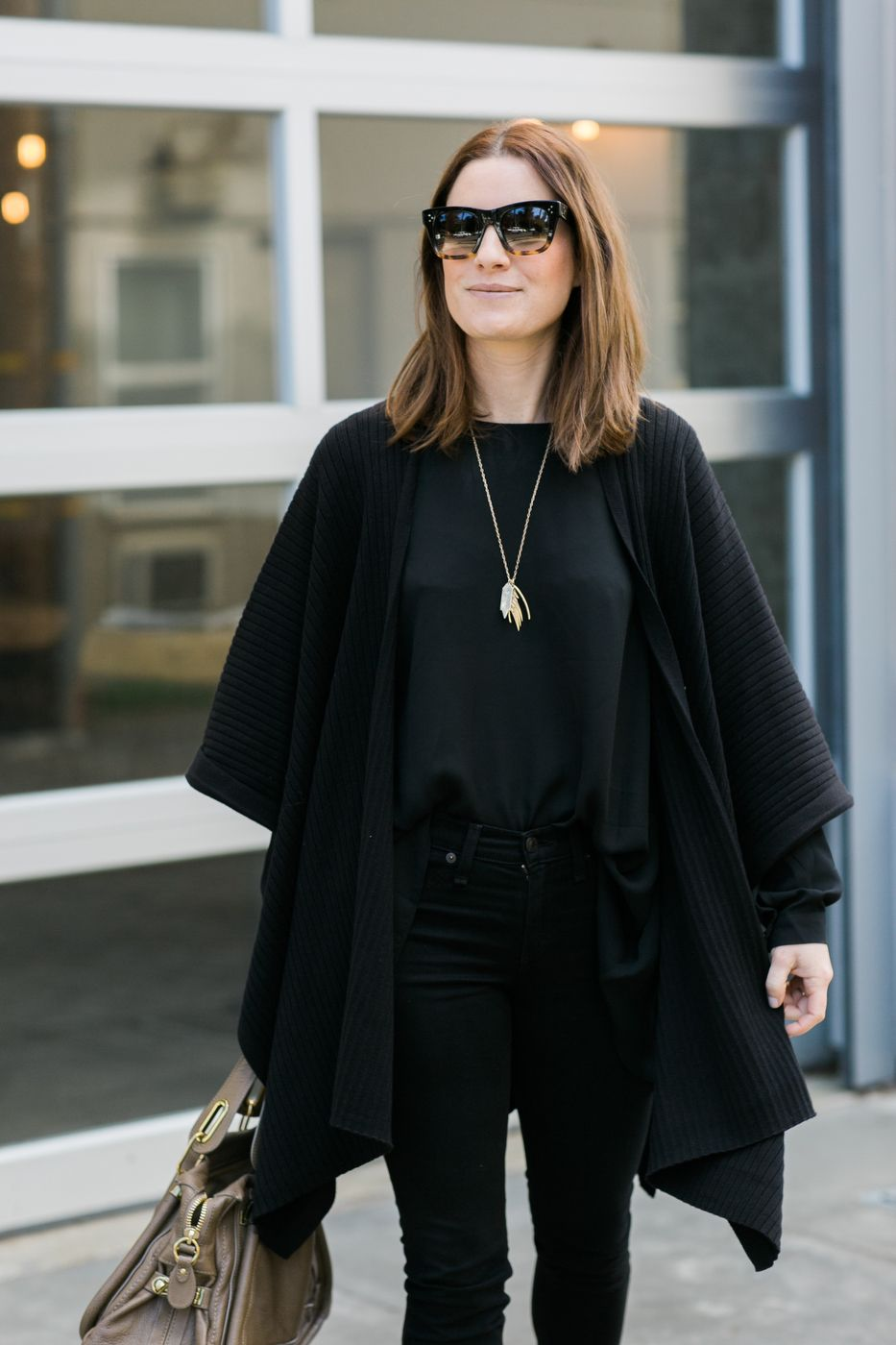 How To Style Black Poncho
