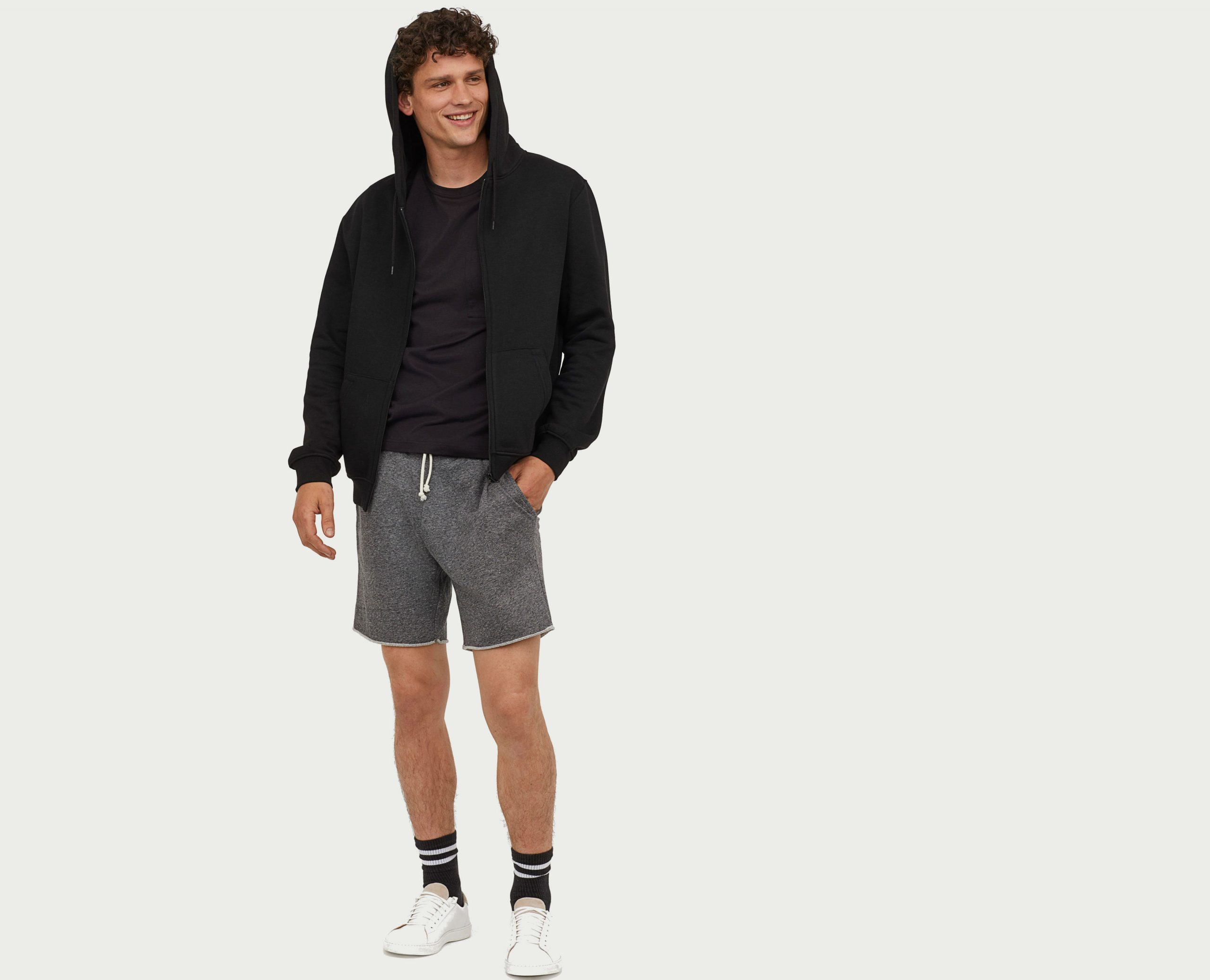 How To Style Black Sweat Shorts