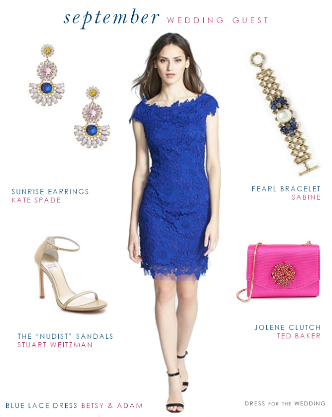 How To Style Blue Cocktail Dress