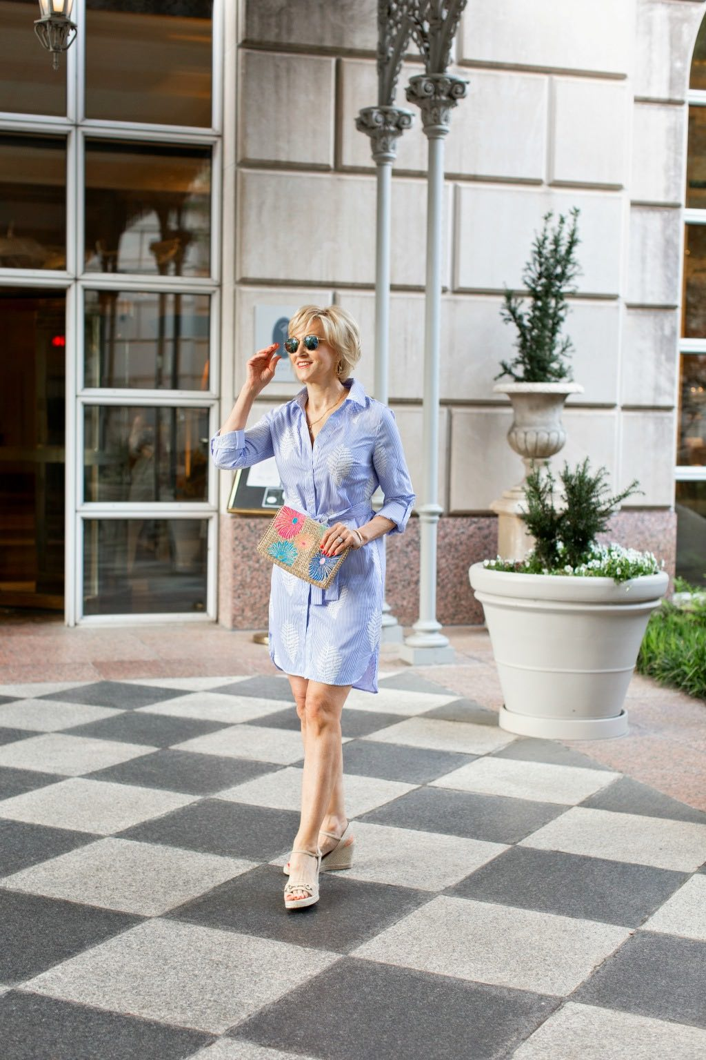 How To Style Blue White Striped Dress