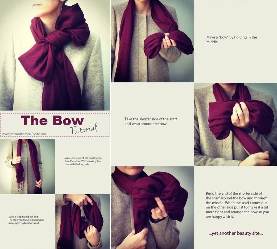 How To Style Bow Scarf