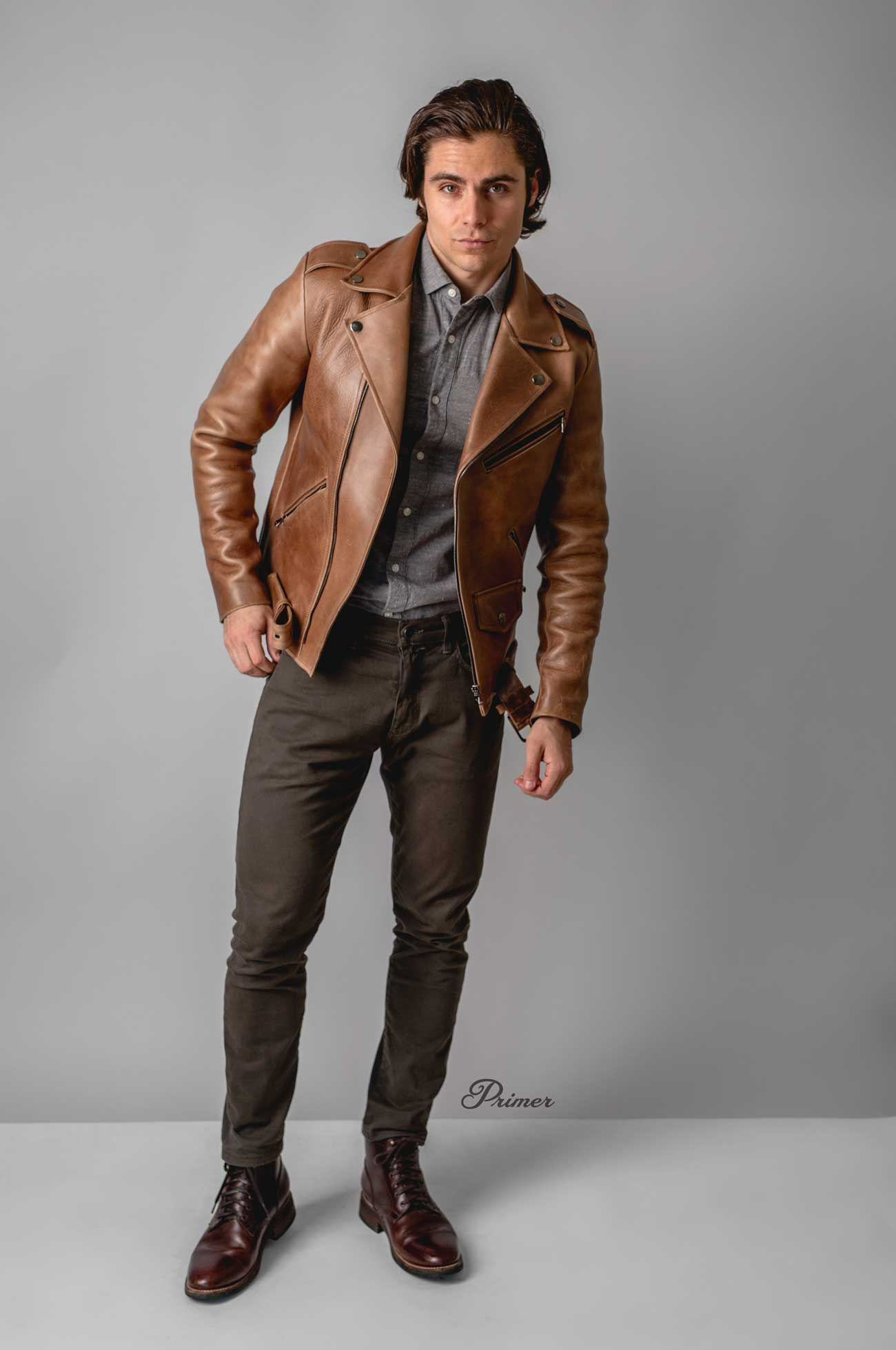 How To Style Brown Leather Motorcycle Jacket