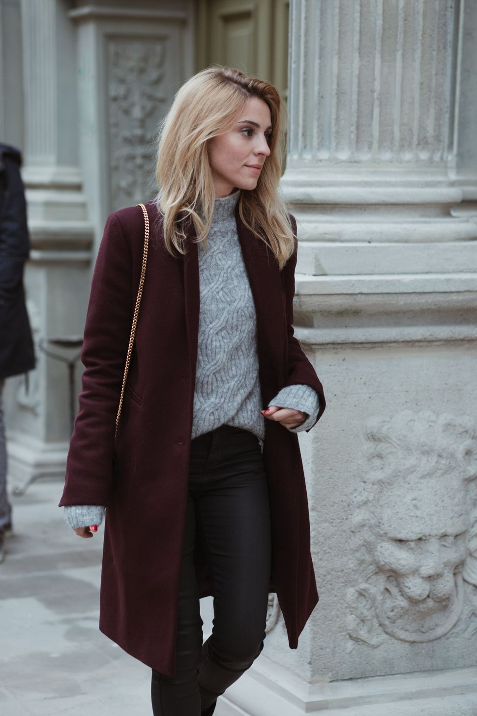 How To Style Burgundy Coat