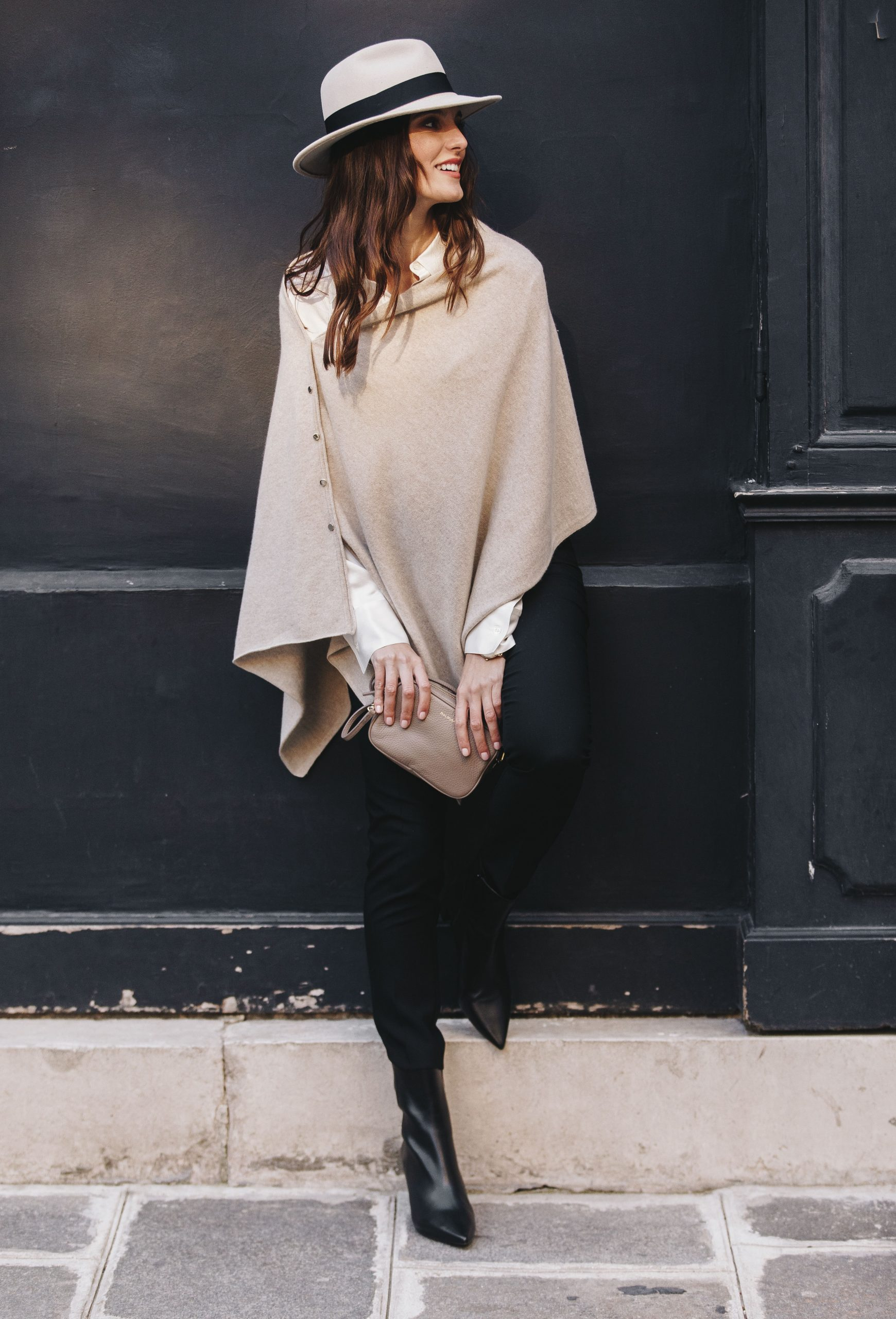 How To Style Cashmere Poncho
