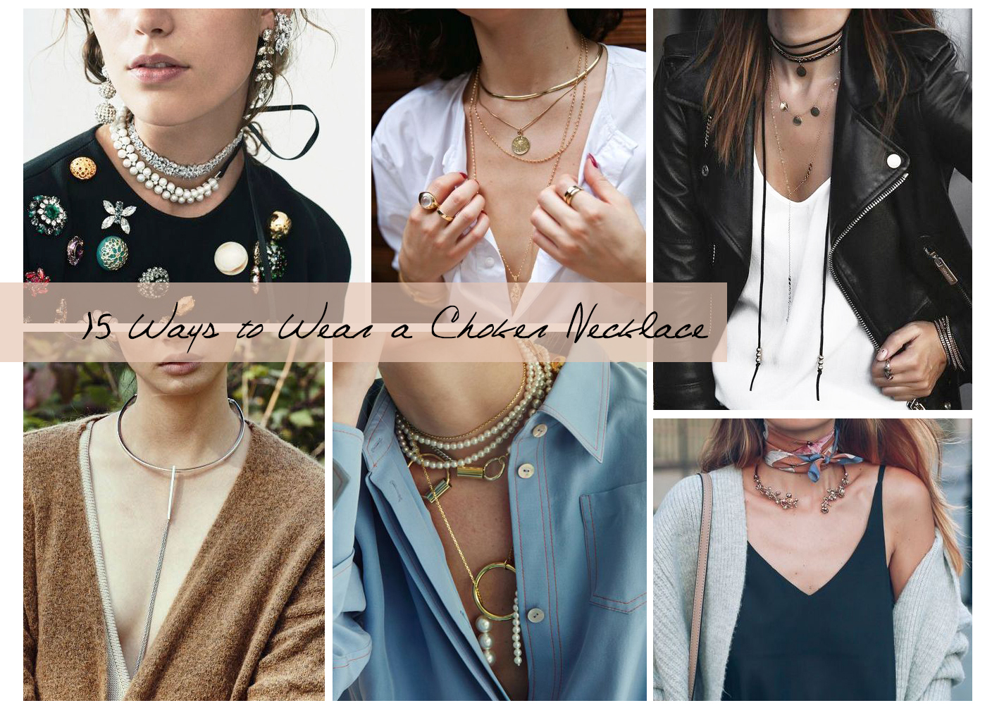 How To Style Choker Necklace