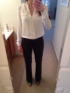 How To Style Cream Blouse