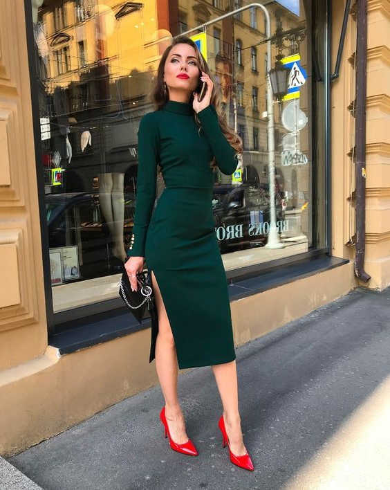 How To Style Dark Green Dress