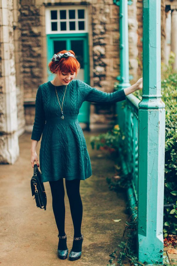 How To Style Dark Teal Dress
