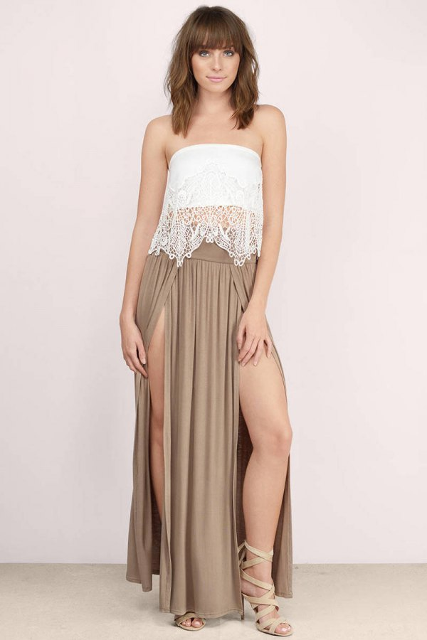 How To Style Double Slit Maxi Skirt