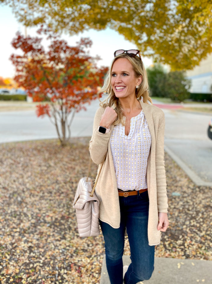 How To Style Gold Cardigan