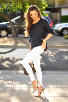 How To Style Gold High Heels