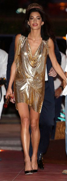 How To Style Gold Lame Dress