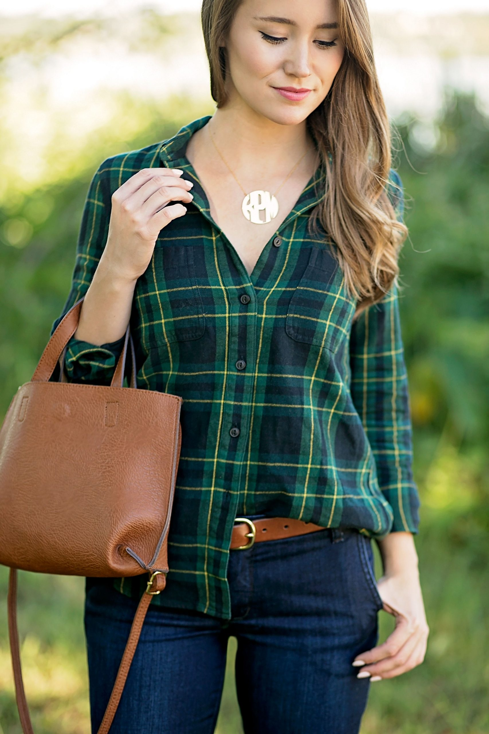 How To Style Green Plaid Shirt