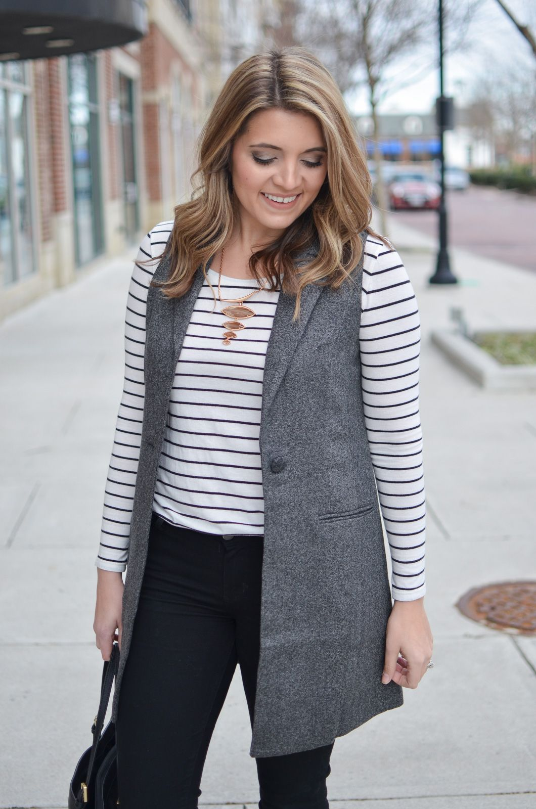 How To Style Grey Vest