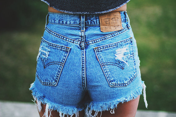 How To Style High Rise Denim Shorts