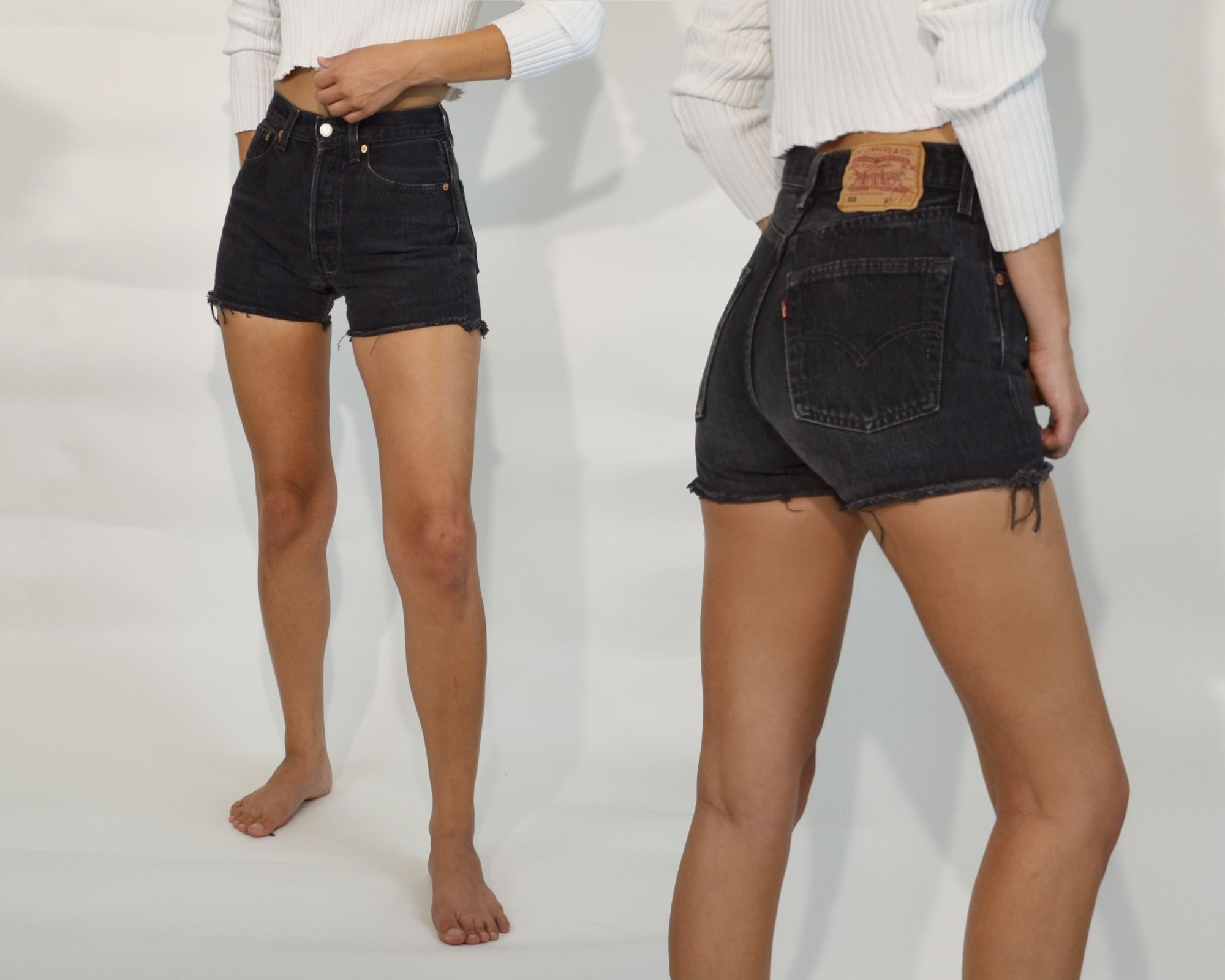 How To Style High Waisted Black Denim Shorts