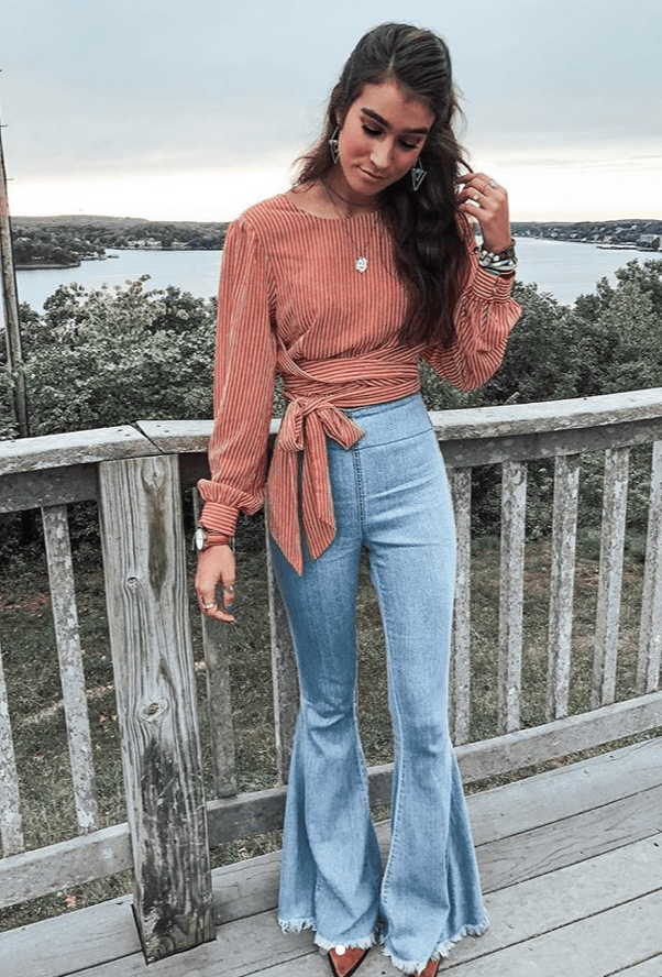 How To Style High Waisted Boot Cut Jeans