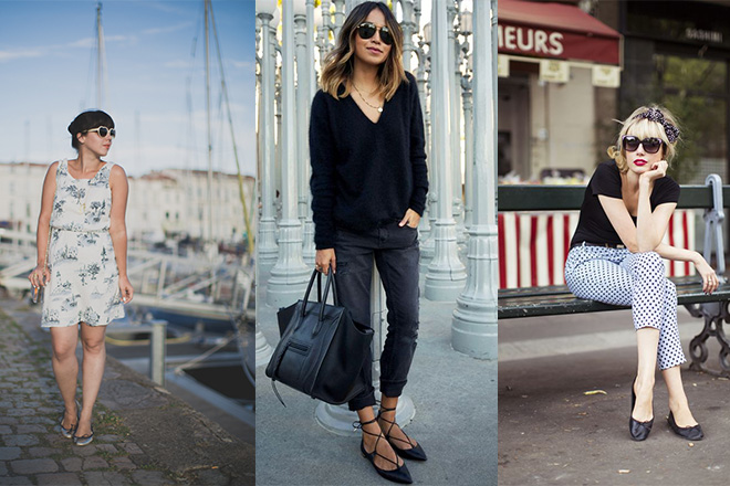 How To Style Leather Ballet Flats