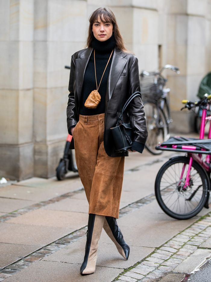 How To Style Leather Blazer