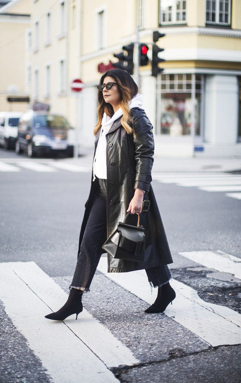 How To Style Leather Trench Coat
