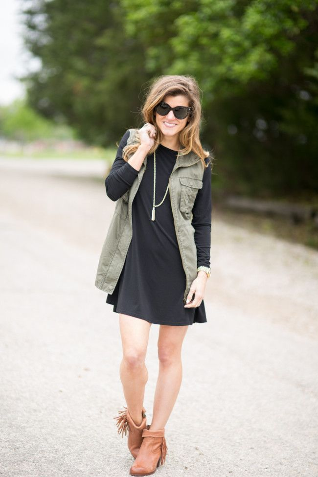 How To Style Long Sleeve Swing Dress