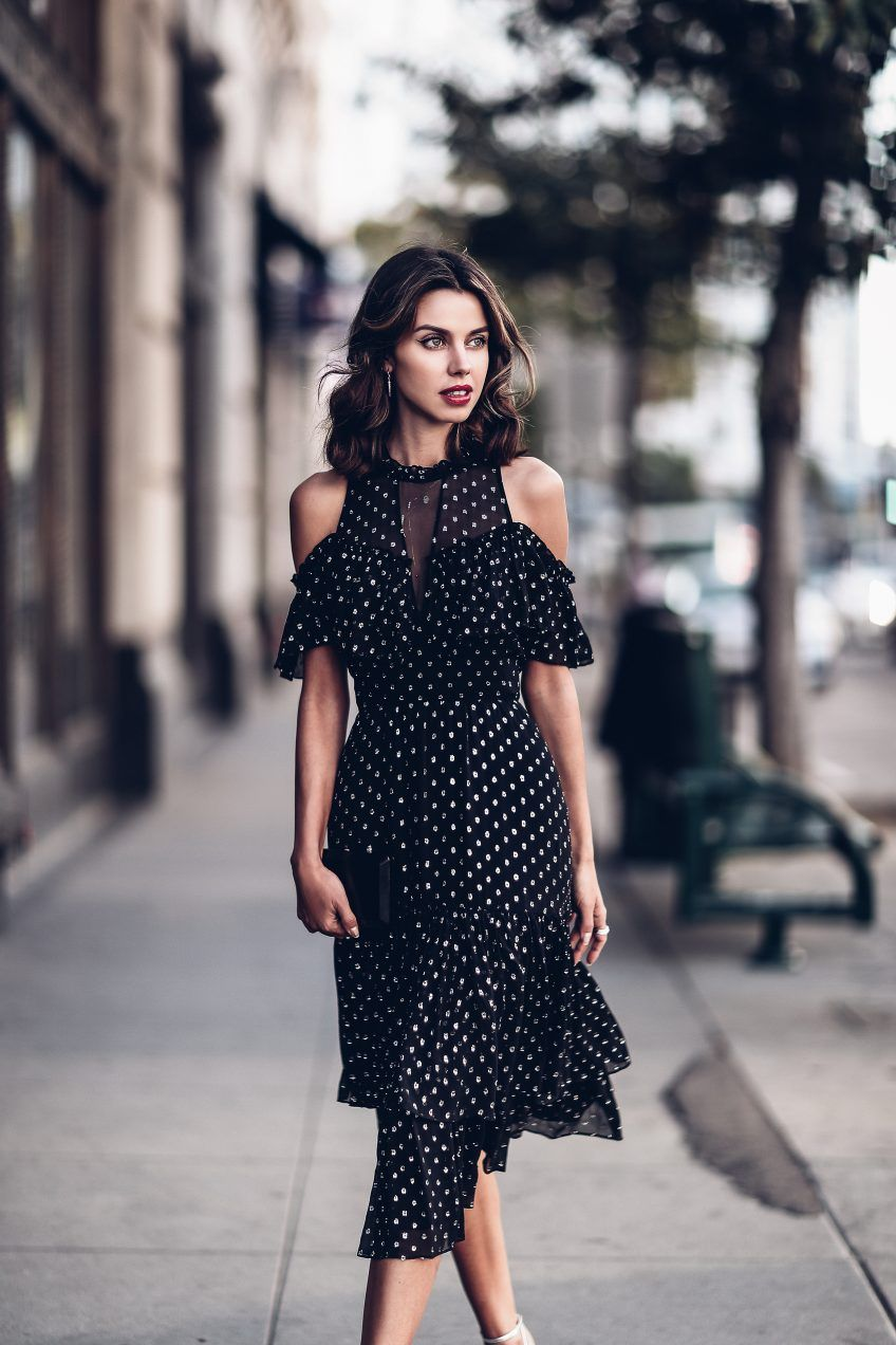 How To Style Open Shoulder Dress